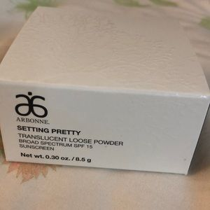 NIB Arbonne translucent loose setting powder